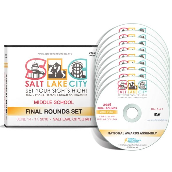 Salt Lake City Set Your Sights High: 2016 National Speech and Debate Tournament Final Round DVD Set