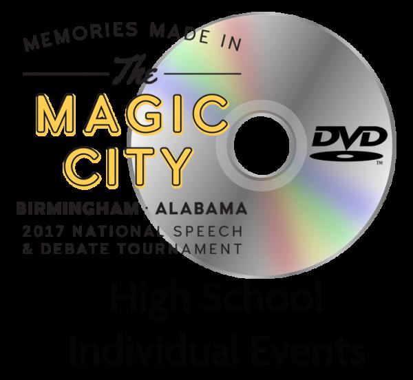 2017 National Speech and Debate Tournament: High School Individual Events DVD