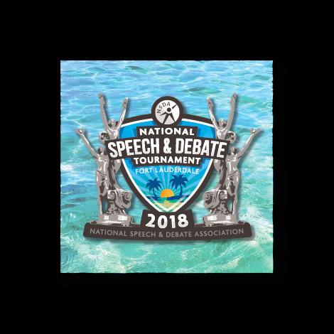 2018 National Speech and Debate Tournament Button