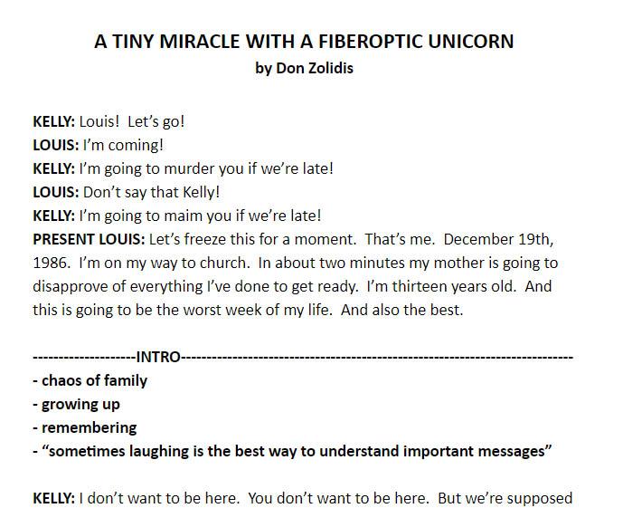 A Tiny Miracle With A Fiberoptic Unicorn - 1st cut example