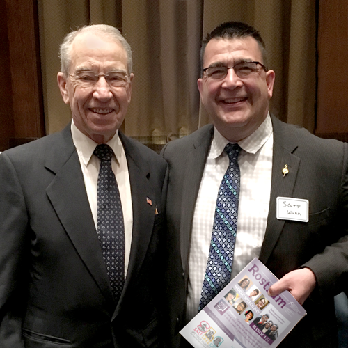 Chuck Grassley and Scott Wunn