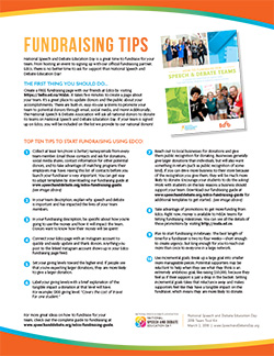 NSDE Day Fundraising Tips