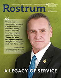 Rostrum Magazine Cover April/May 2018