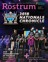 Rostrum Magazine Cover August 2018 Nationals Chronicles