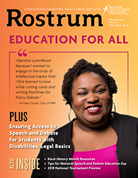 Rostrum Magazine Cover February/March 2018