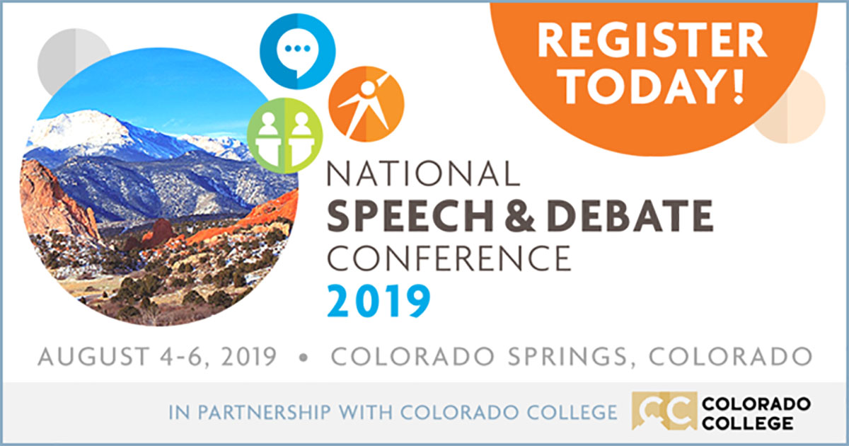Register for the National Speech & Debate Conference