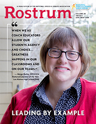 Rostrum Magazine Cover April/May 2019