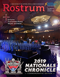 Rostrum Magazine Cover August Nationals Chronicles