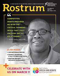 Rostrum Magazine Cover February/March 2019