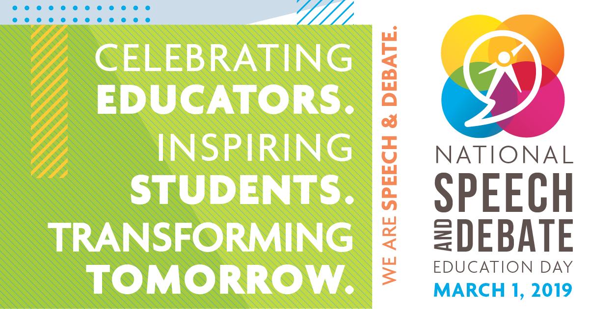 National Speech and Debate Education Day   National Speech