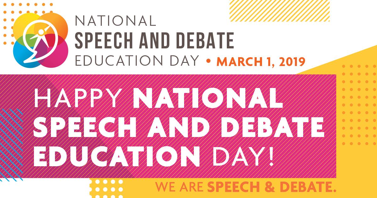 National Speech and Debate Education Day | National Speech