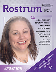 Rostrum Magazine Cover April/May
