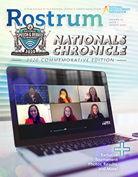 Rostrum Magazine Cover August - Nationals Chronicles
