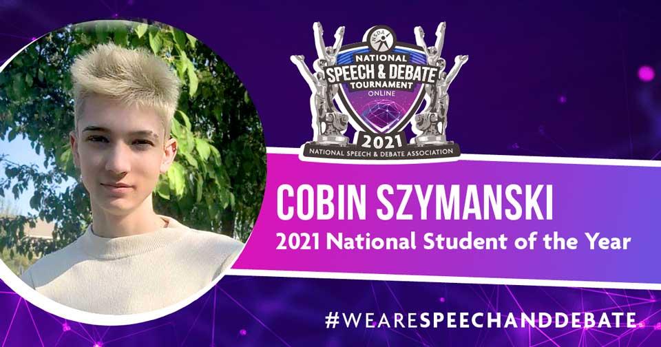 2021 Student of the Year Cobin Szymanski