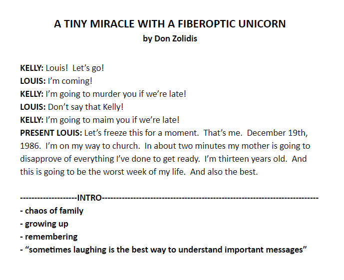 A Tiny Miracle With A Fiberoptic Unicorn - 2nd cut example