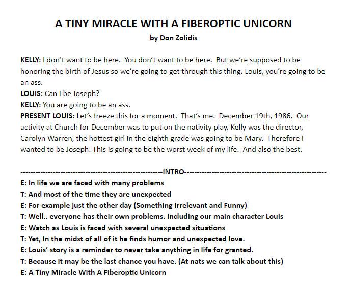 A Tiny Miracle With A Fiberoptic Unicorn - 3rd cut example