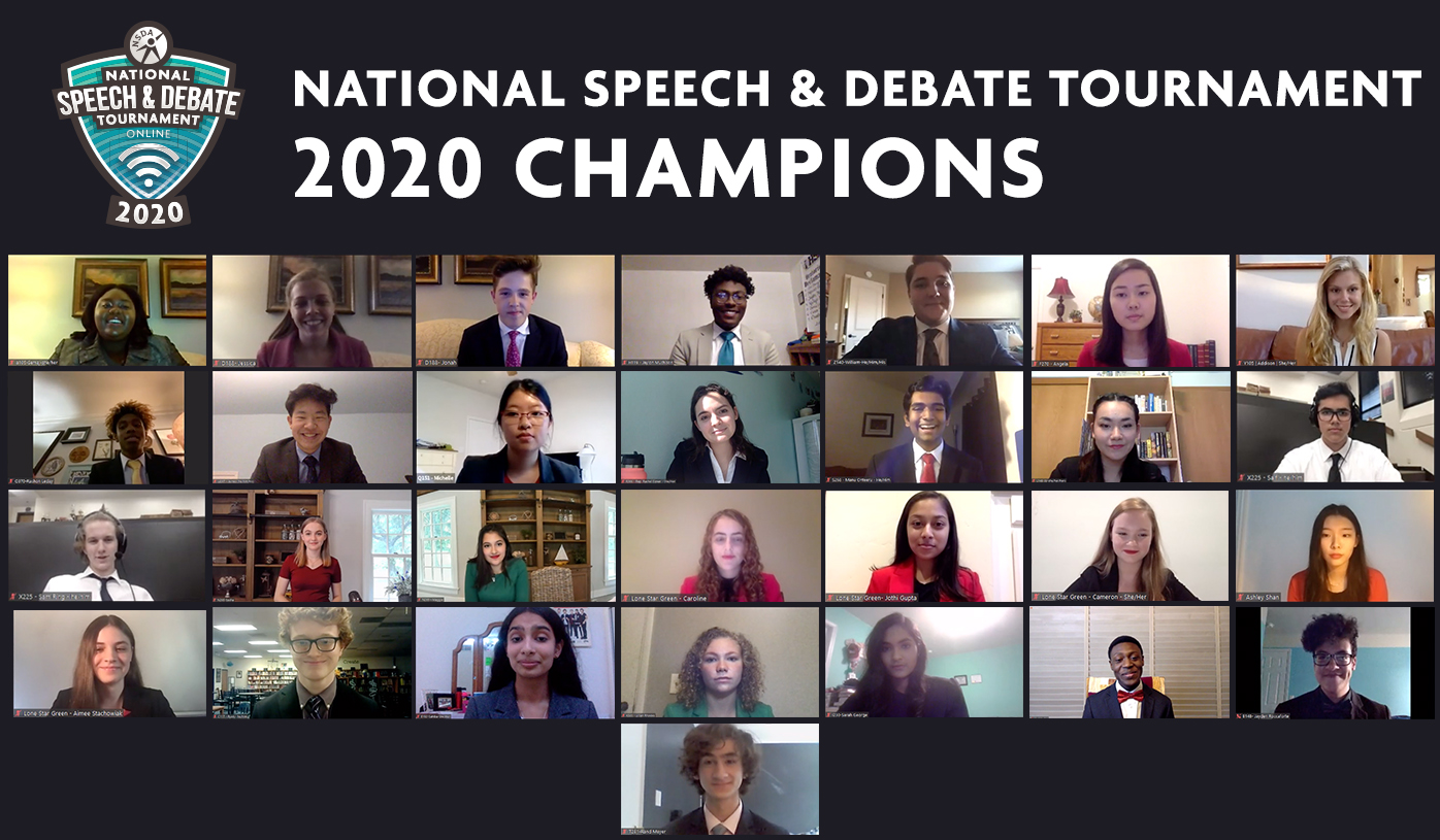 National Speech and Debate 2020 Champions