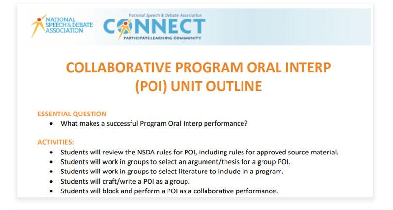 Collaborative POI Unit