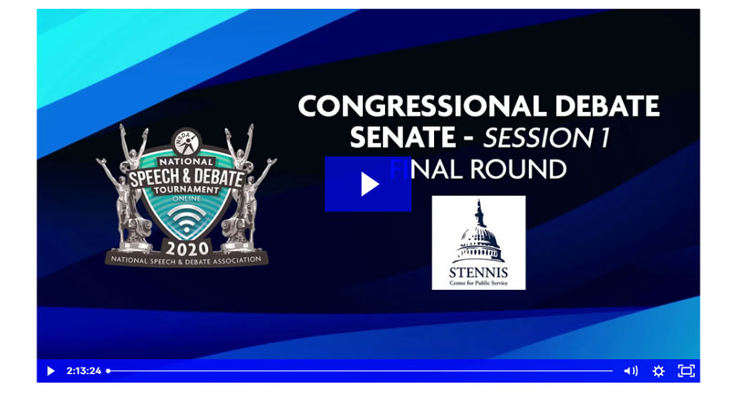 Congressional Debate Senate