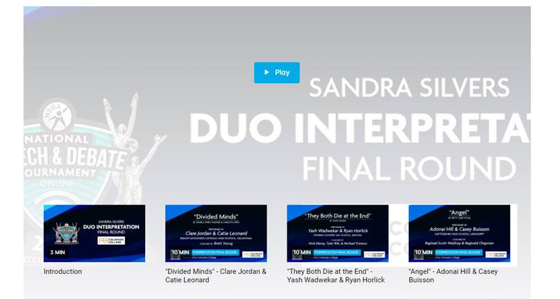 Duo Interpretation Finals