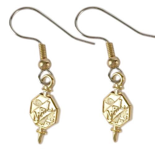 Gold Key Earrings