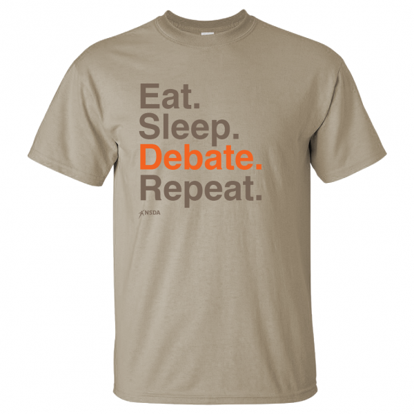 Eat Sleep Debate Repeat T-Shirt