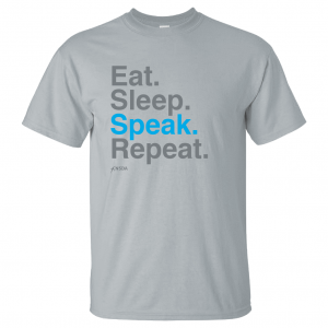 Eat Sleep Speak Repeat T-Shirt