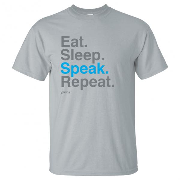 Eat Sleep Speak Repeat T-Shirt