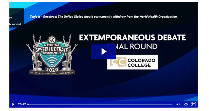 Extemporaneous Debate Final Rounds