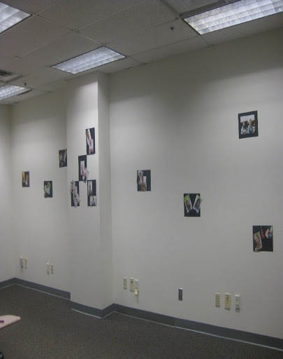 Room with pictures on the wall