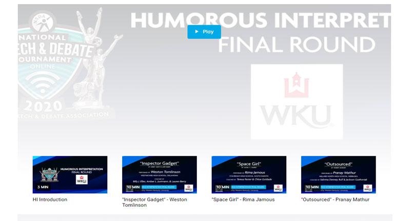 Humorous Interpretation Finals