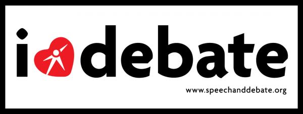 I Heart Debate Sticker
