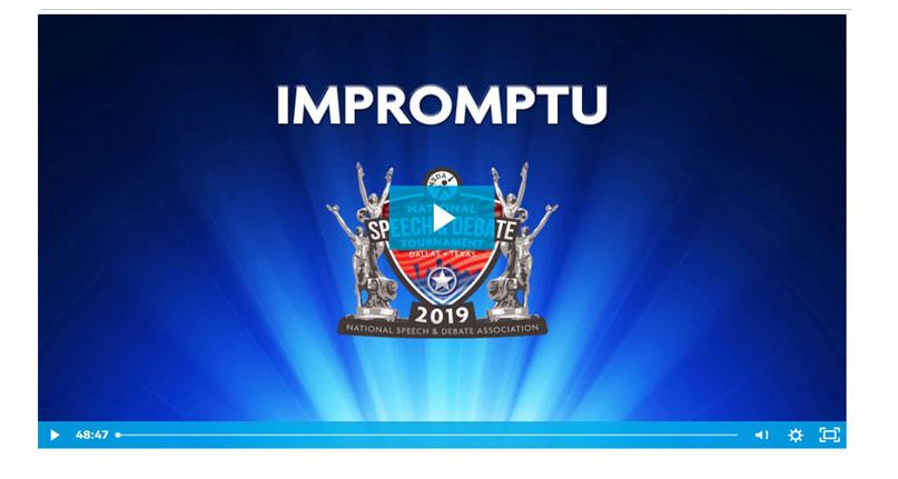 Impromptu Speaking Final Round