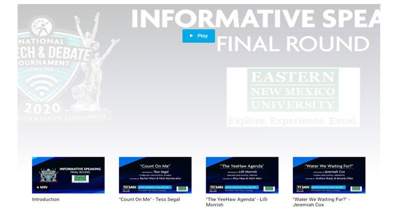 Informative Speaking Final Round
