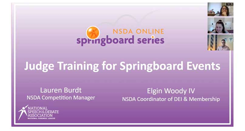 Judge Training For Springboard Events