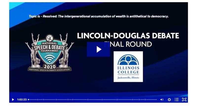 Lincoln-Douglas Debate Final Round