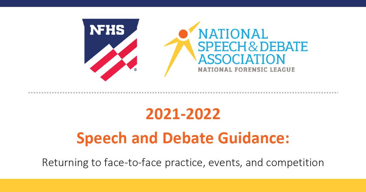 NFHS-NSDA Speech Debate Guidance for 2021