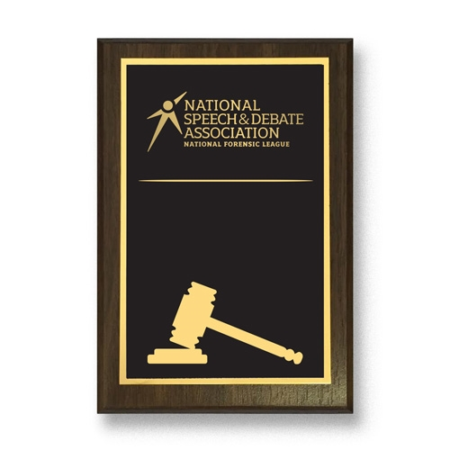 National Speech and Debate Association Congressional Debate Plaque