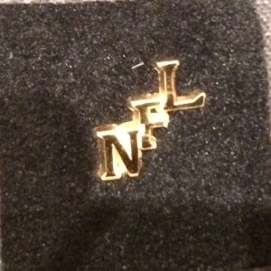 NFL Gold Monogram Pin