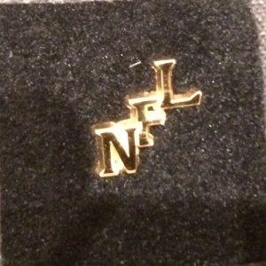 NFL Gold Monogram Pin