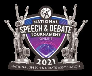 2021 National Speech and Debate Tournament Logo