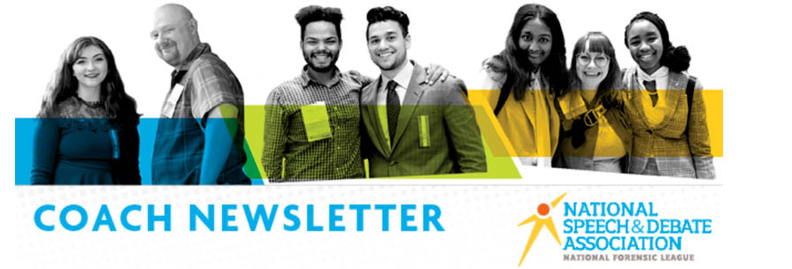 Newsletters for coaches, district leaders, students, and alumni