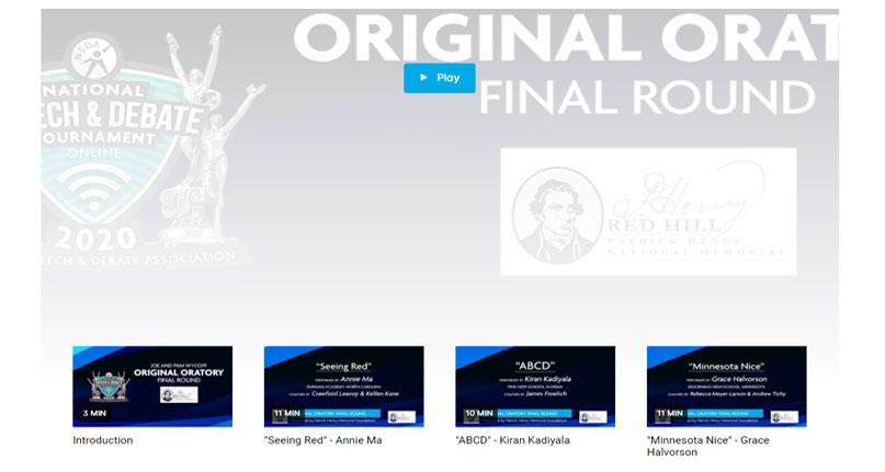 Original Oratory Final Round