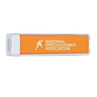 Phone Charger with .National Speech and Debate Logo