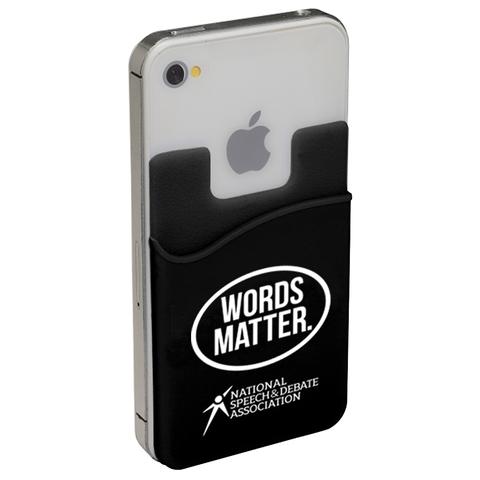 Words Matter Mobile Phone Pocket