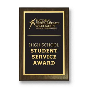 Speech and Debate Service Plaque