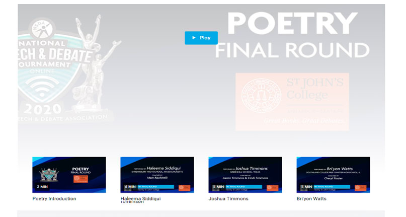 Poetry Final Round