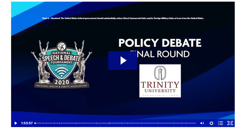 Policy Debate Final Round
