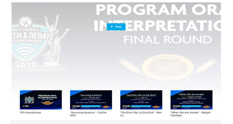 Program Oral Interpretation Finals