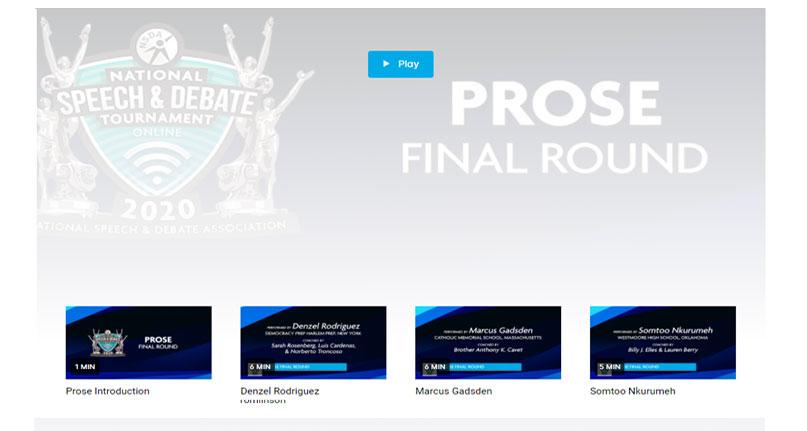 Prose Final Round